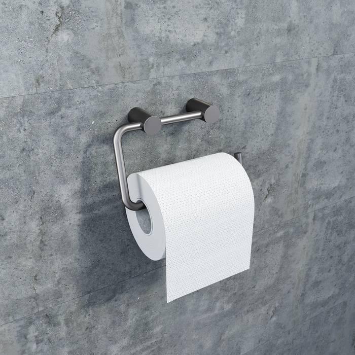 Фото Держатель для туалетной бумаги без крышки, сплав металлов, IDDIS Petite PETGM00i43, графит 1