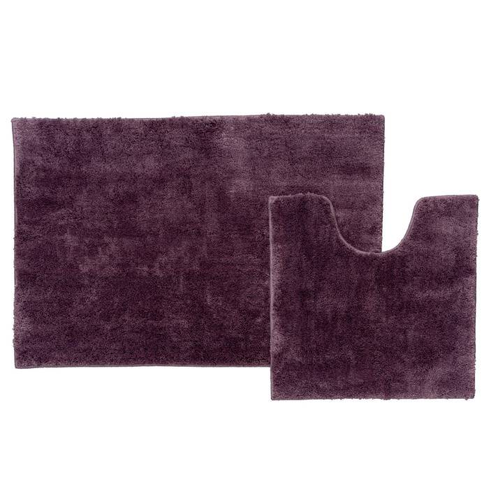 Фото Набор ковриков для ванной комнаты, 60x90 + 50x50 см, микрофибра, IDDIS Basic B18M690i12 0