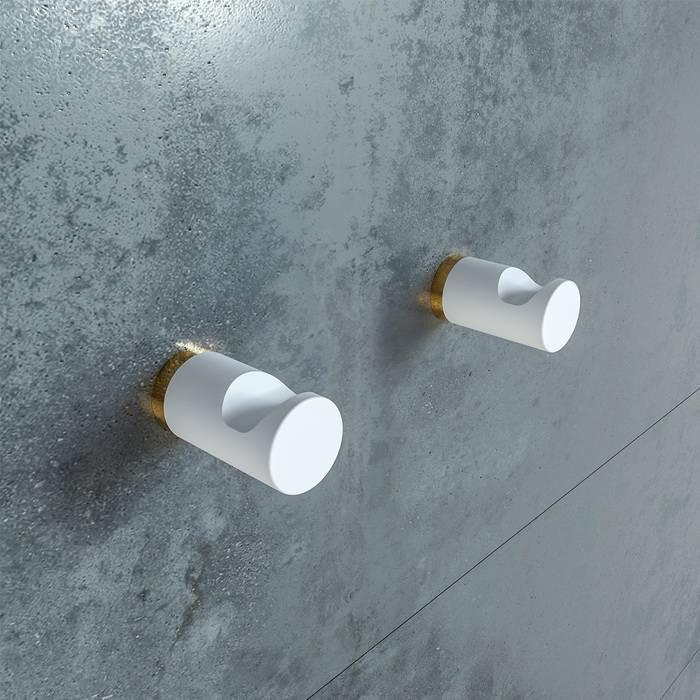 Фото Комплект одинарных крючков, сплав металлов, IDDIS Petite PET2SY1i41, белый матовый с желтым золотом 1