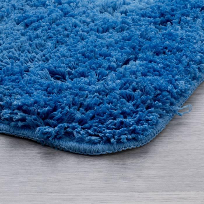 Фото Набор ковриков для ванной комнаты, 60х90 + 50х50 см, микрофибра, IDDIS 241M590i13 2