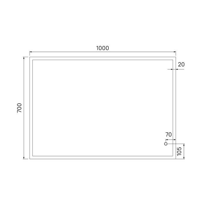 Фото Зеркало 100 см IDDIS Brick BRI1000i98 5