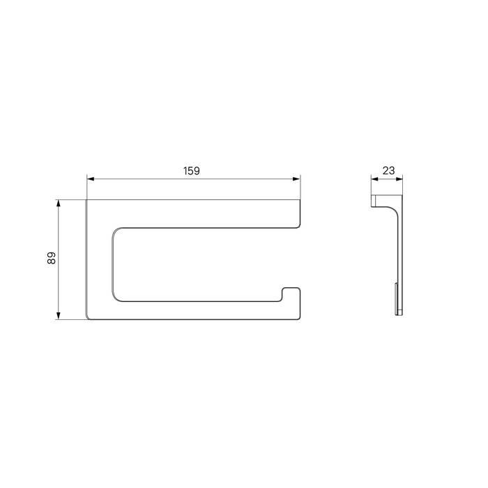 Фото Держатель для туалетной бумаги без крышки, сплав металлов, IDDIS Slide SLIGM00i43, графит 2