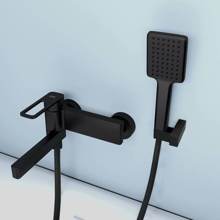 Фото Смеситель для ванны IDDIS Slide SLIBL00i02, черный 5