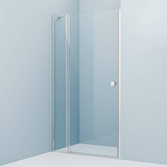 Фото Душевая дверь распашная, глянцевый алюминиевый профиль 110х195, IDDIS Ray RAY6CP1i69 0