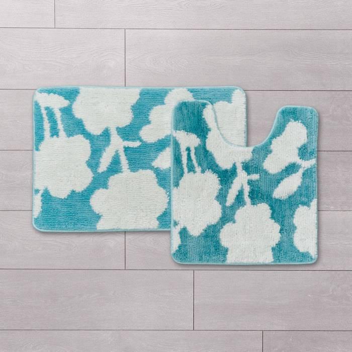 Фото Набор ковриков для ванной комнаты, 45x65 + 45x50 см, микрофибра, IDDIS Promo P37M465i12 1