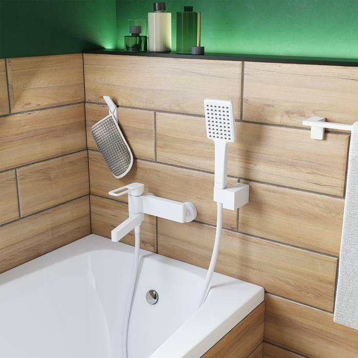 Фото Смеситель для ванны матовый, IDDIS Slide SLIWT00i02, белый 3