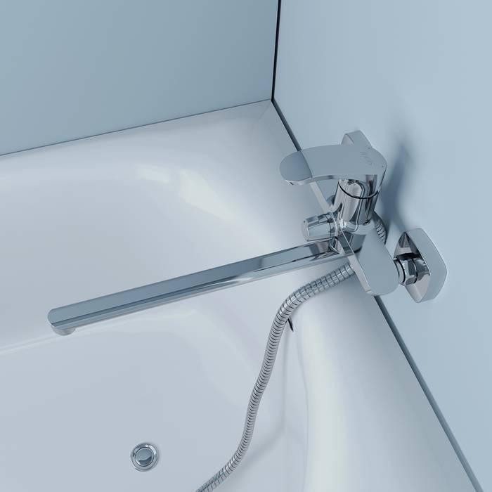 Фото Смеситель для ванны с длинным изливом, IDDIS Joker JOKSB00i10WA 5