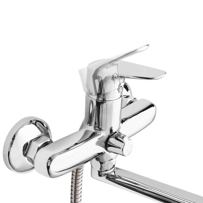 Фото Смеситель для ванны с длинным изливом с керамическим дивертором IDDIS Zodiac ZODSBL2i10 3