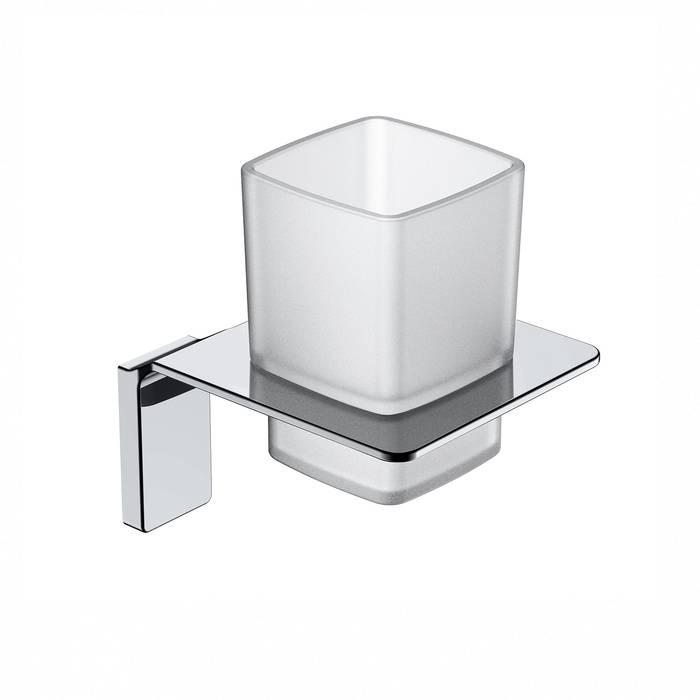 Фото Подстаканник одинарный матовое стекло, сплав металлов, IDDIS Slide SLISCG1i45, хром 0