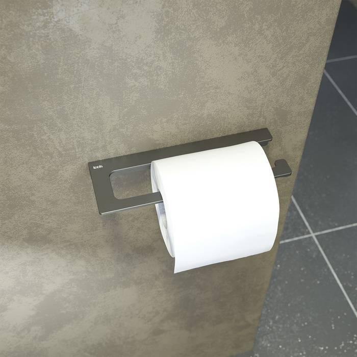 Фото Держатель для туалетной бумаги без крышки, сплав металлов, IDDIS Slide SLIGM00i43, графит 1
