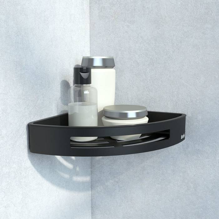 Фото Полка угловая нержавеющая сталь IDDIS Optima Home SHE11SBi44, черная 1