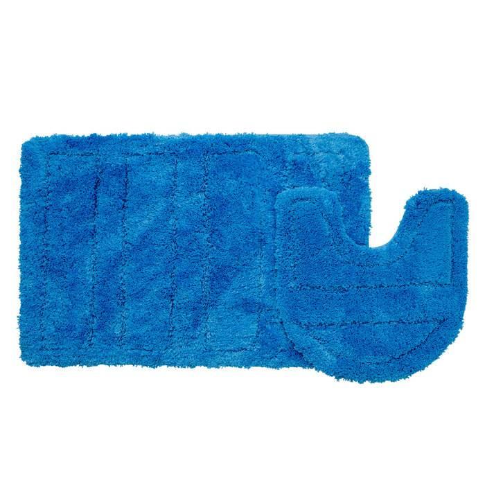 Фото Набор ковриков для ванной комнаты, 60х90 + 50х50 см, микрофибра, IDDIS 241M590i13 0