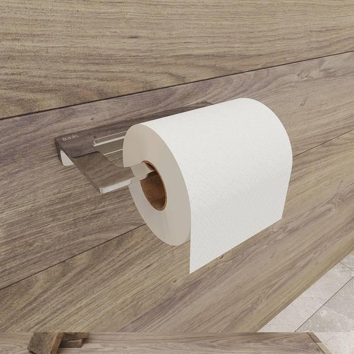 Фото Держатель для туалетной бумаги без крышки, сплав металлов, IDDIS Slide SLISC00i43, хром 1