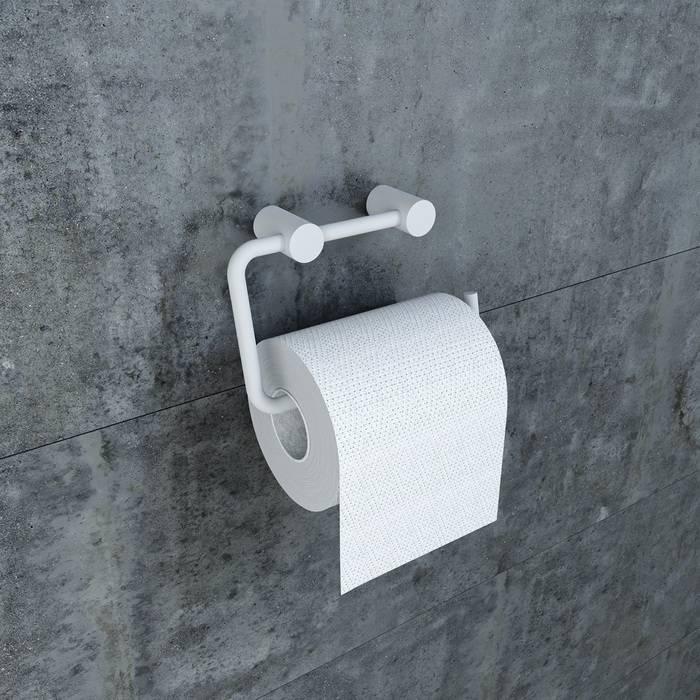 Фото Держатель для туалетной бумаги без крышки, сплав металлов, IDDIS Petite PETWT00i43, белый матовый 1