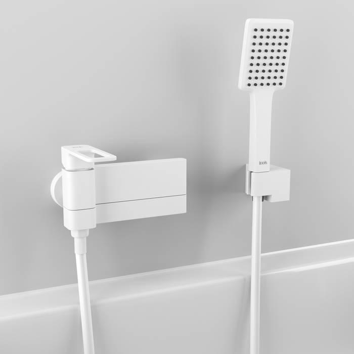 Фото Смеситель для ванны матовый, IDDIS Slide SLIWT00i02, белый 1