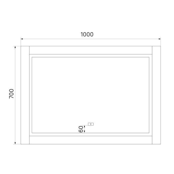 Фото Зеркало с подсветкой, 100 см, Oxford, IDDIS, ЗЛП112 3