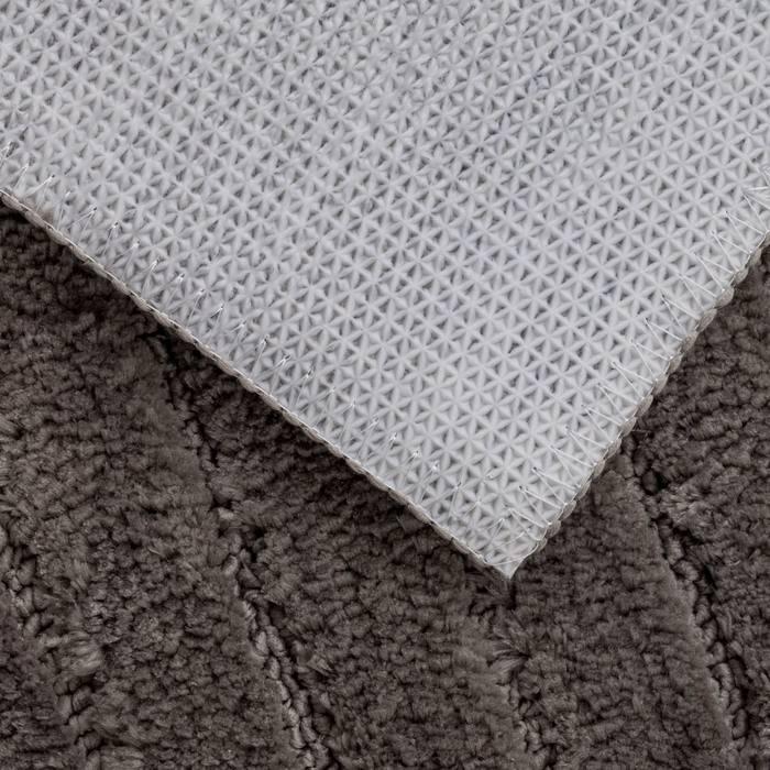 Фото Набор ковриков для ванной комнаты, 55x85 + 50x50 см, микрофибра, IDDIS Basic B17M585i12 5
