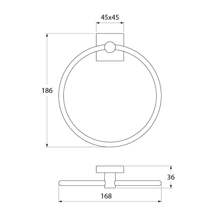 Фото Полотенцедержатель кольцо латунь IDDIS Edifice EDISBO0i51 3