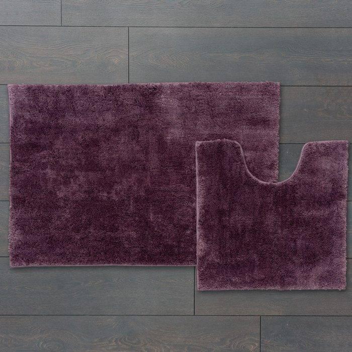 Фото Набор ковриков для ванной комнаты, 60x90 + 50x50 см, микрофибра, IDDIS Basic B18M690i12 1