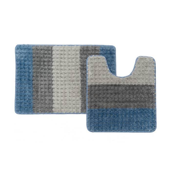 Фото Набор ковриков для ванной комнаты, 45x65 + 45x50 см, микрофибра, IDDIS Promo P36M465i12 0