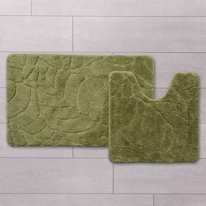 Фото Набор ковриков для ванной комнаты, 50x80 + 50x50 см, микрофибра, IDDIS Promo P45M558i13 1