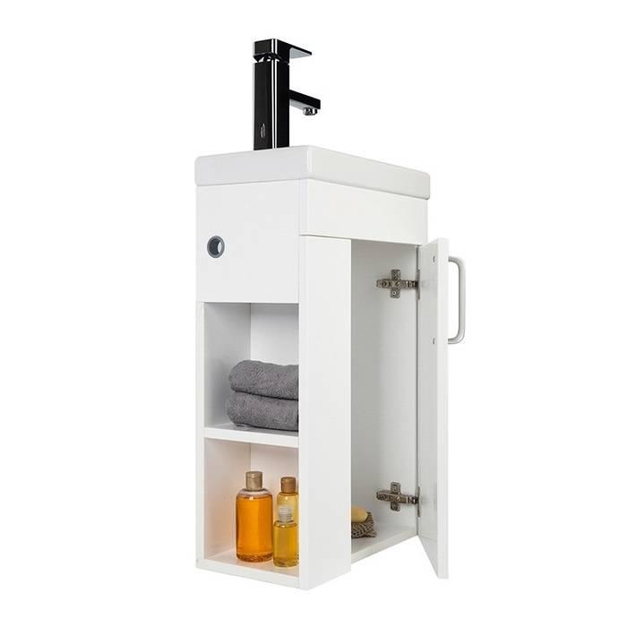 Фото Тумба с умывальником для ванной комнаты, подвесная, 40 см, IDDIS Torr TOR40W1i95K, белая 5