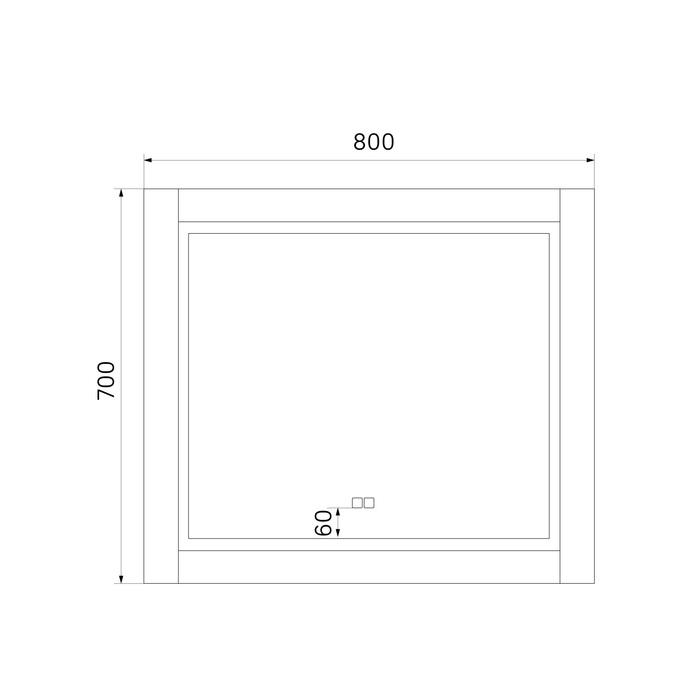 Фото Зеркало с подсветкой, 80 см, Oxford, IDDIS, ЗЛП110 3