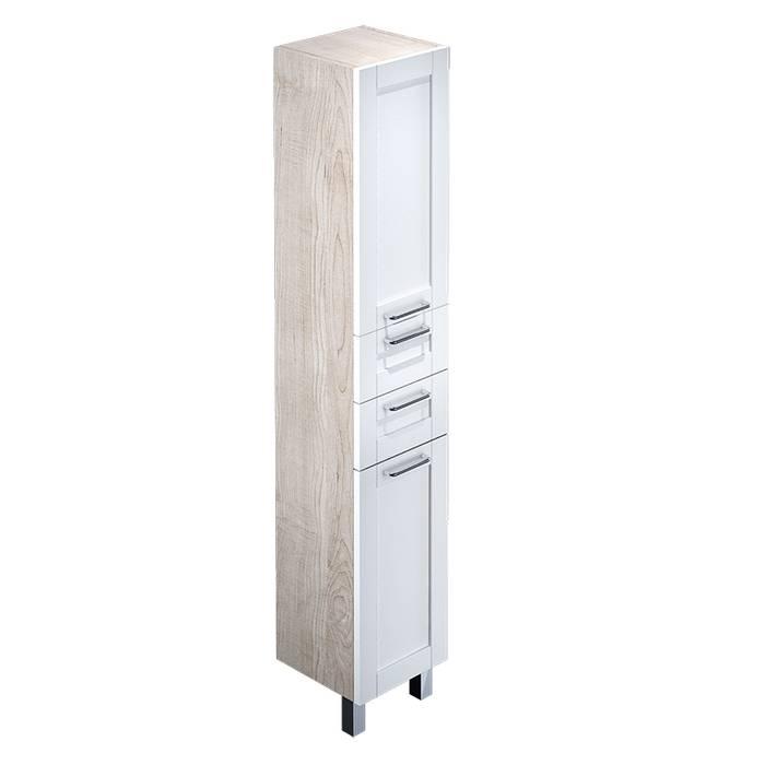 Фото Пенал для ванной комнаты, напольный, 36 см, IDDIS Sena SEN3600i97, белый/дерево 0