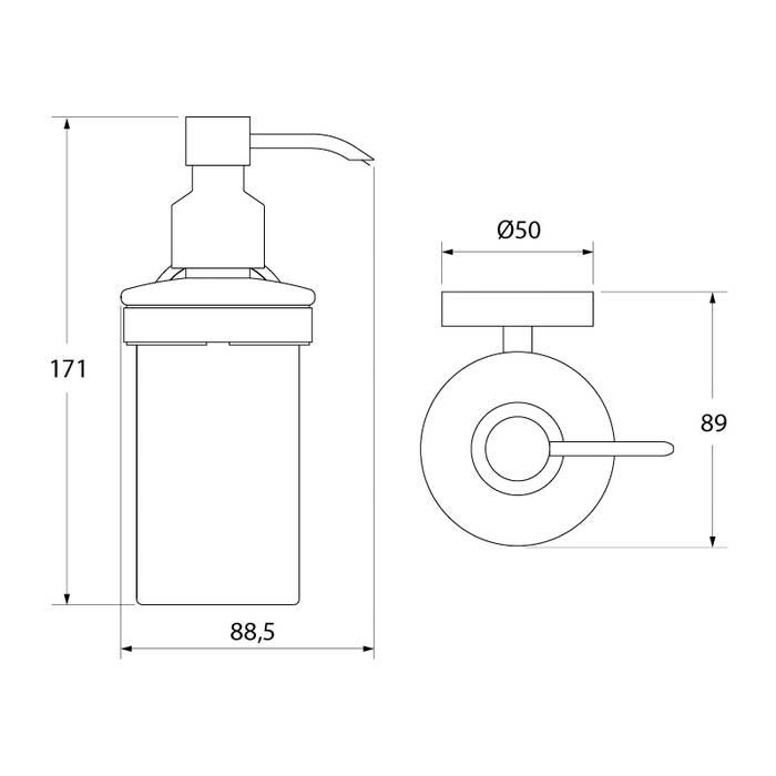 Фото Дозатор для жидкого мыла, матовое стекло, латунь, IDDIS Calipso CALMBG0i46 2