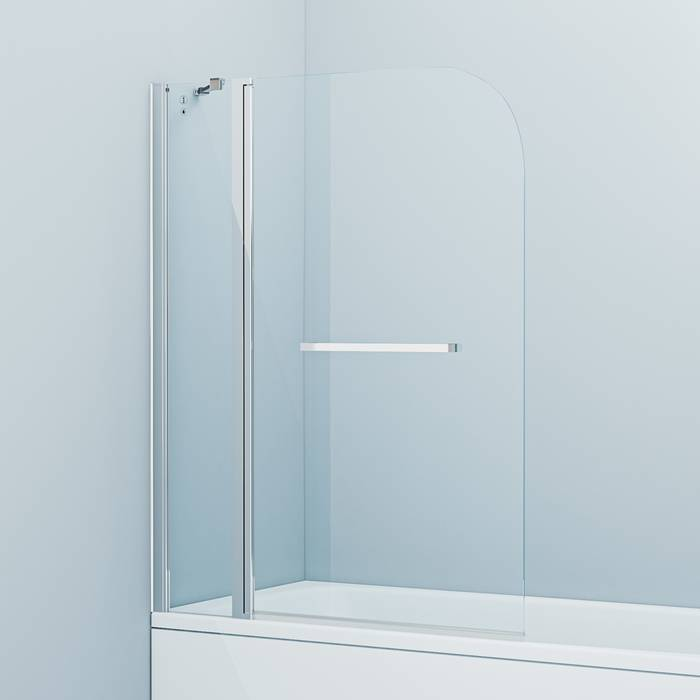Фото Шторка на ванну, глянцевый алюминиевый профиль 110х140, IDDIS Ray RAY6CS1i90 0