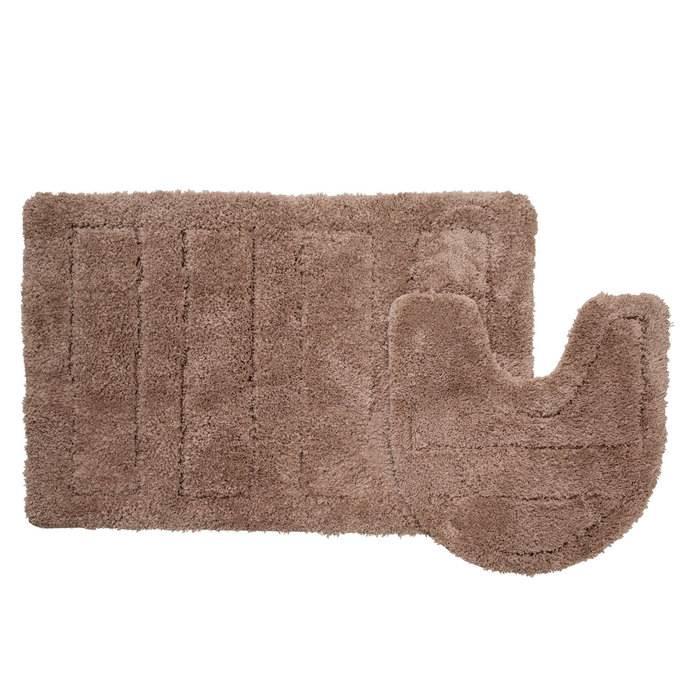 Фото Набор ковриков для ванной комнаты, 60х90 + 50х50 см, микрофибра, IDDIS Basic 242M590i13 0