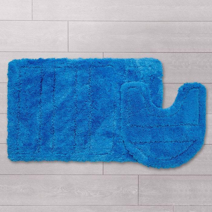 Фото Набор ковриков для ванной комнаты, 60х90 + 50х50 см, микрофибра, IDDIS 241M590i13 1