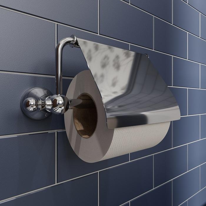 Фото Держатель для туалетной бумаги с крышкой, глянцевый хром, сплав металлов, Retro, IDDIS, RETSSC0i43 2
