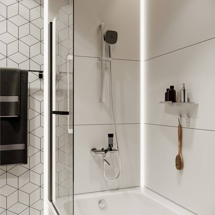 Фото Смеситель для ванны с управлением IDDIS Shelfy SHESBBTi02WA 4