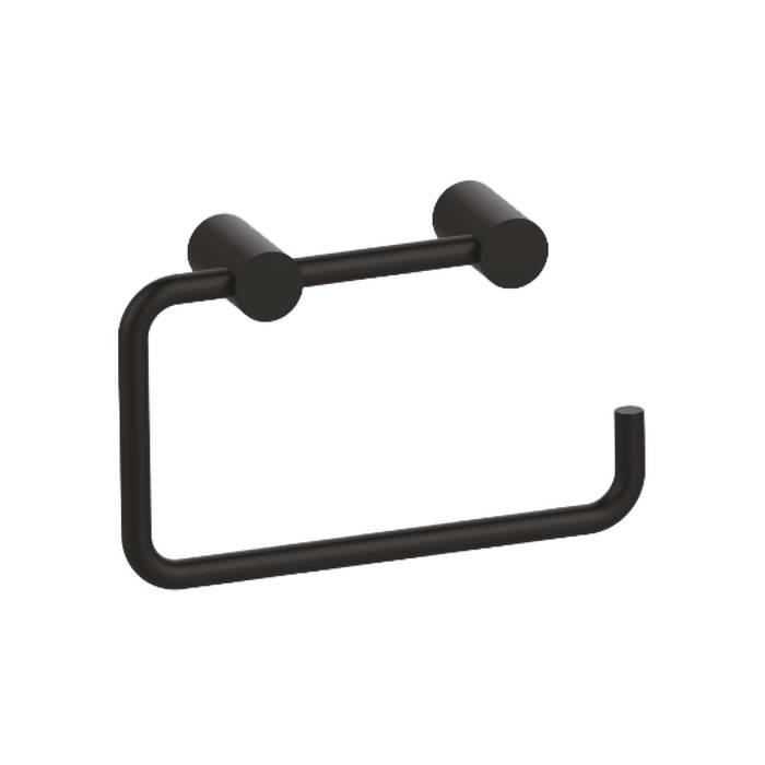 Фото Держатель для туалетной бумаги без крышки, сплав металлов, IDDIS Petite PETBL00i43, черный матовый 0