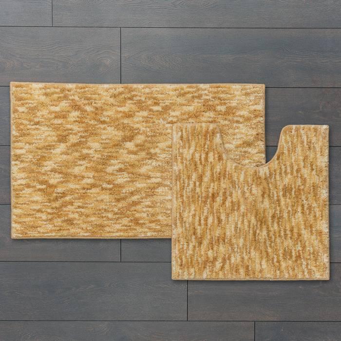 Фото Набор ковриков для ванной комнаты, 50x80 + 50x50 см, микрофибра, IDDIS Basic B15M580i12 1