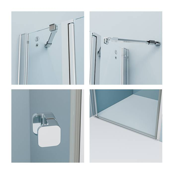 Фото Душевая дверь распашная, глянцевый алюминиевый профиль 120х195, IDDIS Ray RAY6CP2i69 1