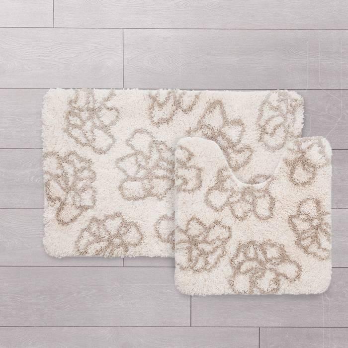 Фото Набор ковриков для ванной комнаты, 50x80+50x50 см,полиэстер, IDDIS Basic 490M580i13 1