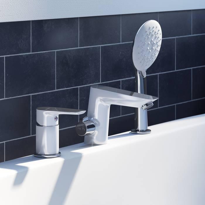Фото Смеситель на борт ванны на 3 отверстия с керамическим дивертором, IDDIS Cloud CLOSB30i07 1