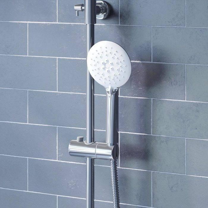 Фото Смеситель для ванны с верхним душем, IDDIS Cloud CLOSB00i06, хром/белый 3