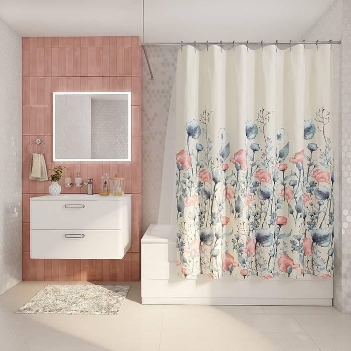 Фото Штора для ванной комнаты, 200x180 см полиэстер, IDDIS Décor D11P218i11 1