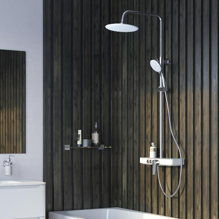 Фото Смеситель для ванны с верхним душем, IDDIS Shelfy SHESB3Fi06 7