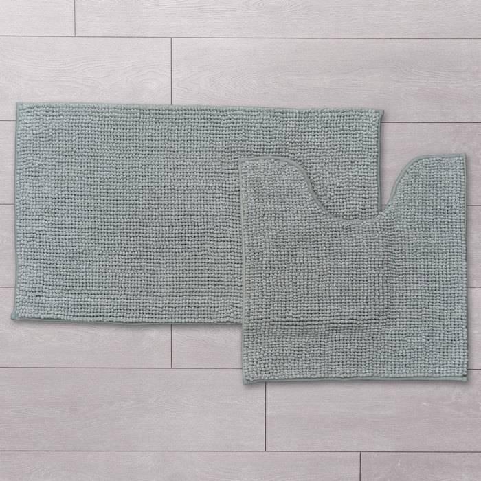 Фото Набор ковриков для ванной комнаты, 50x80 + 50x50 см, шенилл, IDDIS Promo P38M580i12 1