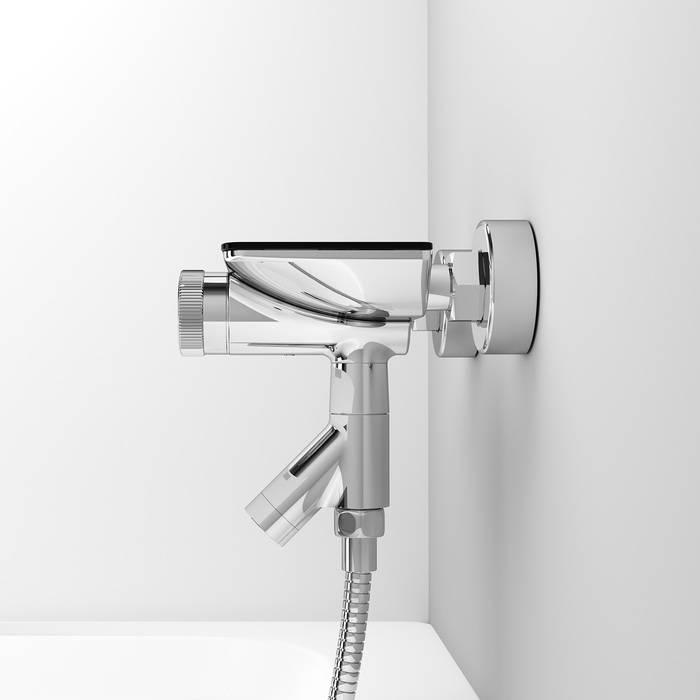 Фото Смеситель для ванны с управлением IDDIS Shelfy SHESBBTi02WA 5
