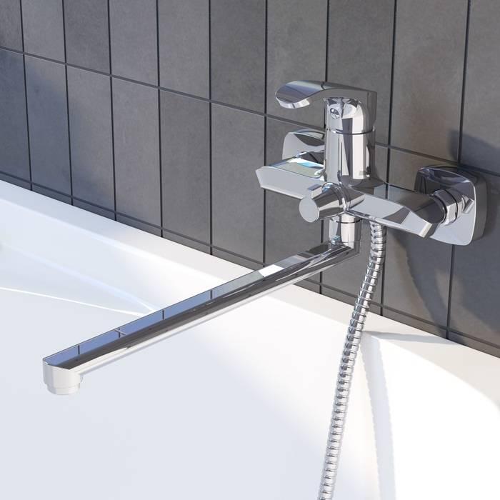 Фото Смеситель для ванны с длинным изливом, IDDIS Joker JOKSB00i10WA 1