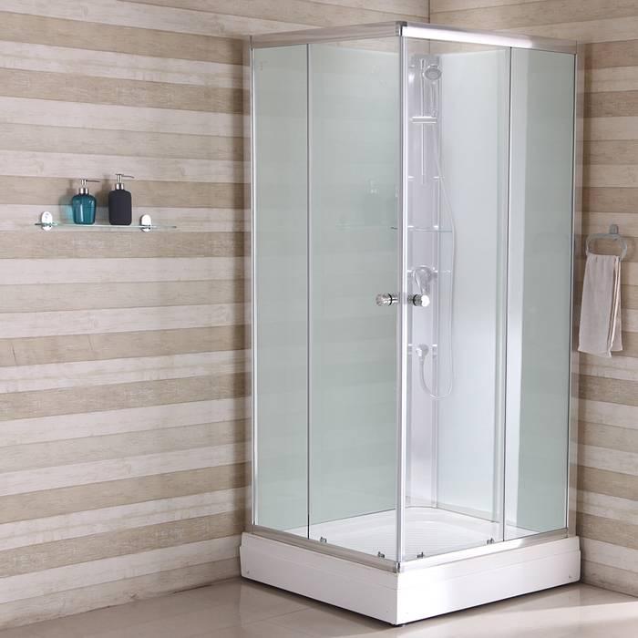 Фото Кабина душевая квадратная, дверки двойные раздвижные, профиль глянцевый стекло прозрачное, 90x90x202 см, поддон низкий, IDDIS Sicily S10S099i21 0