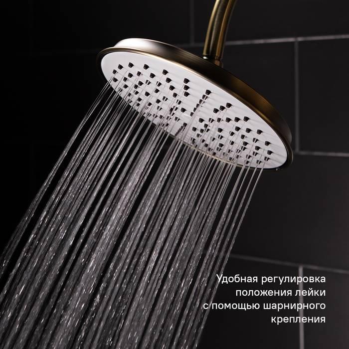 Фото Смеситель для ванны с верхним душем, IDDIS Oldie OLDBR3Fi06 9