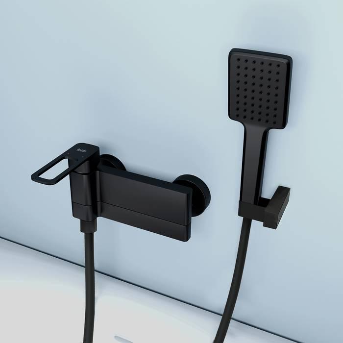 Фото Смеситель для ванны IDDIS Slide SLIBL00i02, черный 4