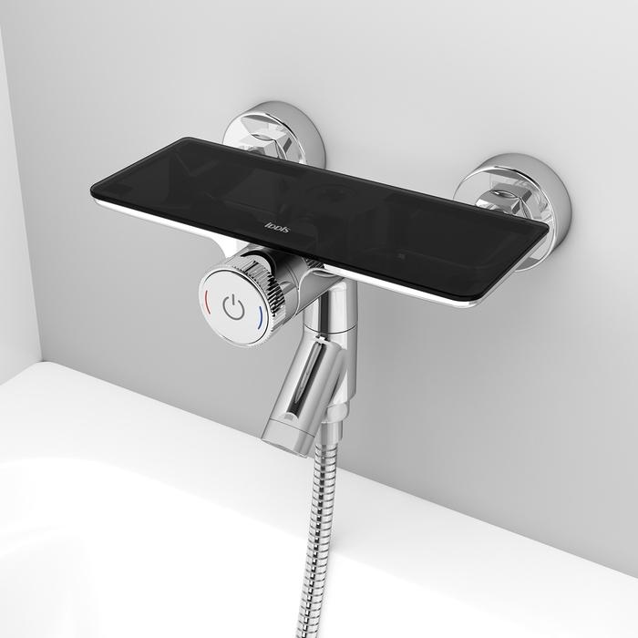 Фото Смеситель для ванны с управлением IDDIS Shelfy SHESBBTi02WA 11