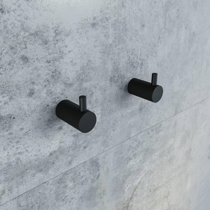 Фото Комплект одинарных крючков, сплав металлов, IDDIS Petite PET2SB3i41, черный матовый 1